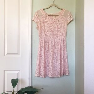 Urban Outfitters Dresses - UO Light Pink Lace Dress
